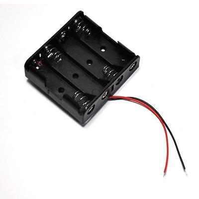 2x Plastic Battery Storage Case Box Holder For 4xaa 4 X Aa 6.0v 2a Wire Leads