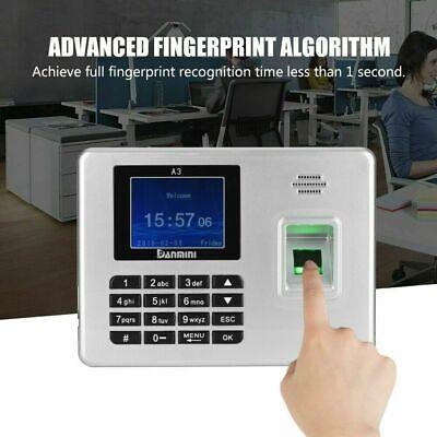 2.8 Tft Color Screen Employee Fingerprint Recorder Attendance Time Clock Usb