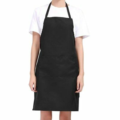 - Cooking Kitchen Restaurant Apron Bib with 2 Pockets Cotton Polyester Blend US