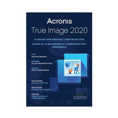 Acronis True Image 2020 3 users PC/MAC