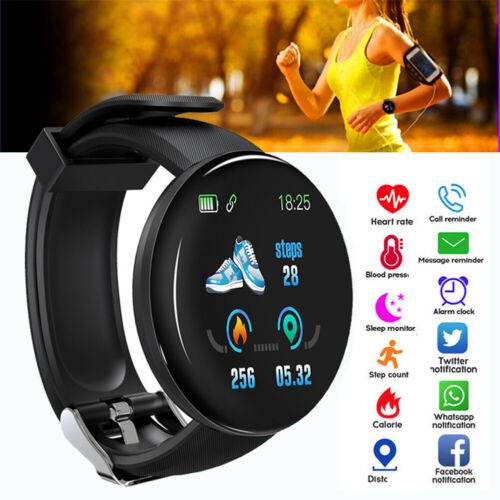Waterproof Smart Watch Blood Pressure Heart Rate Monitor Sport Fitness Tracker Cell Phones & Accessories
