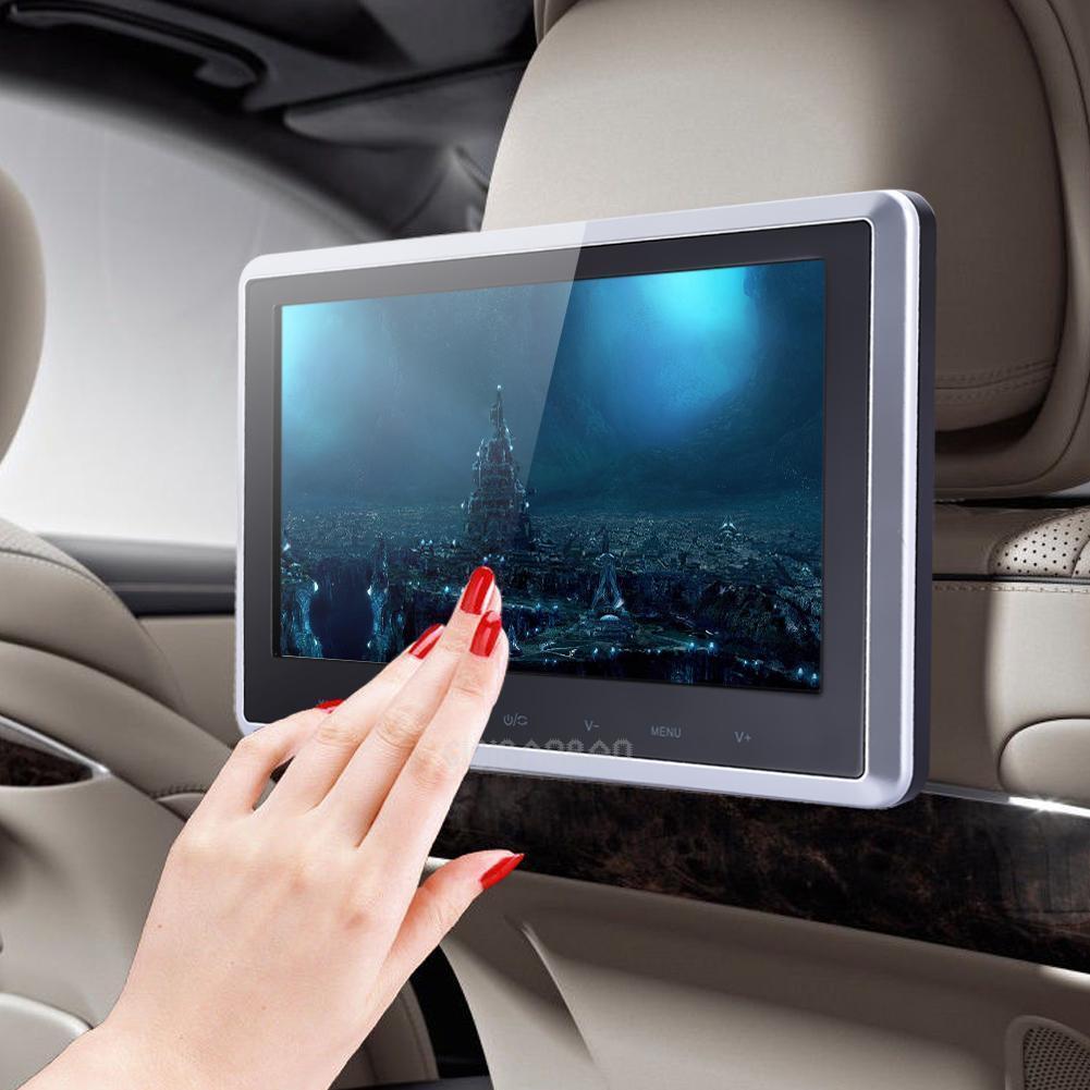 "HDMI 10"" HD Digital LCD Screen Car Headrest Monitor DVD/USB/SD Player IR/FM New"