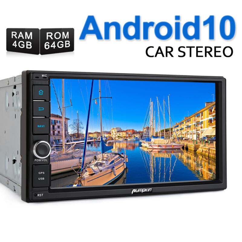 "Pumpkin Double DIN 7"" Android 10.0 Car Radio Stereo 4GB+64GB GPS Navi Head Unit"