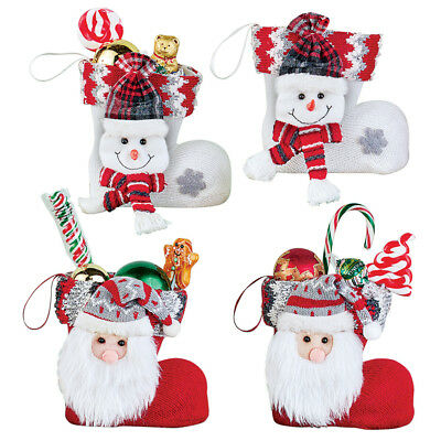Holiday Treat Knit Mini Stockings Set of 4, by Collections E