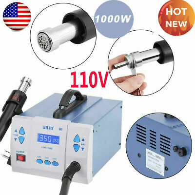 861d Hot Air Gun Kit Rework Station Smd Iron Soldering Solder Holder Voltage110v