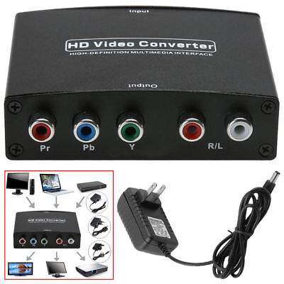 Quality HDMI to 5RCA RGB Component YPbPr Video +R/L Audio Adapter Converter