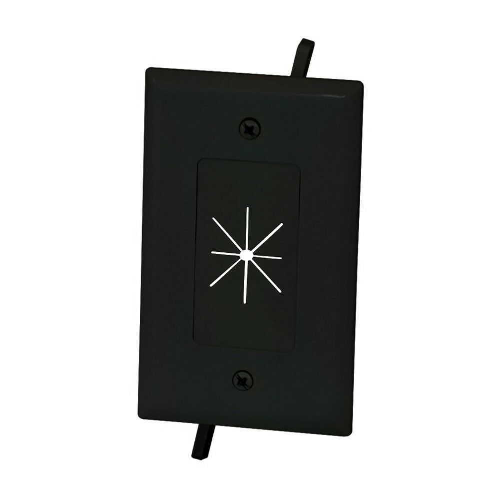 Swell 1 Gang Wall Plate Low Voltage Split Flexible Tv Av Cable Pass Wiring Digital Resources Nekoutcompassionincorg