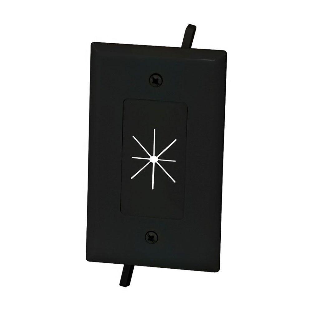 Awe Inspiring 1 Gang Wall Plate Low Voltage Split Flexible Tv Av Cable Pass Wiring Database Xlexigelartorg