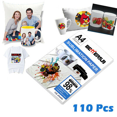 Bettersub 110 Sheets Sublimation Paper Heat Transfer Paper For Polyester T-shirt