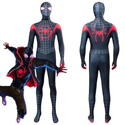 Spider-Man: Into the Spider-Verse Kids Costume Miles Morales Cosplay Zentai Suit