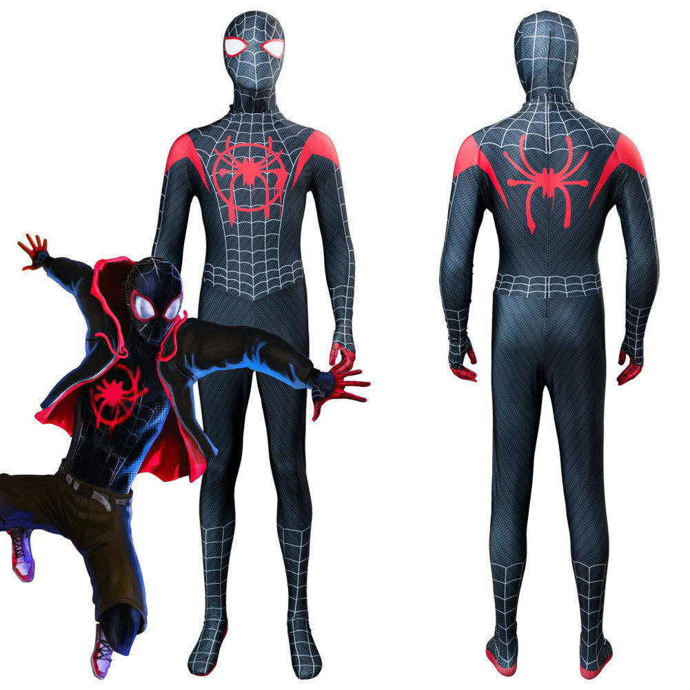 Spider Man Into The Spider Verse Kids Costume Miles Morales Cosplay