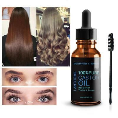 Pure Organic Castor Oil Eyelash/Eyebrow Enhancer Growth Serum 100% Natural