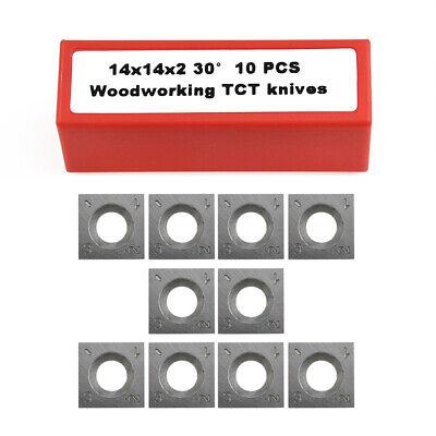 10 Pcs Wood Turning Carbide Inserts Milling Lathe Chisel Replace Blades Tool Kit