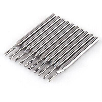 10pcs 18 2mm Carbide Spiral Bit End Mills Cutters Set Cnc Single Flute Routers