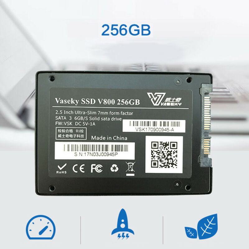 "Vaseky 2.5"" 256GB SSD SATA 3 520MB/s Write High Speed Internal Solid State Drive"