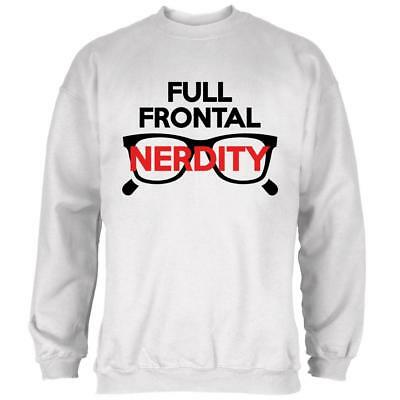 Halloween Nerd Costume Full Frontal Nudity Nerdity Pun Mens Sweatshirt](Halloween Pun Costume)