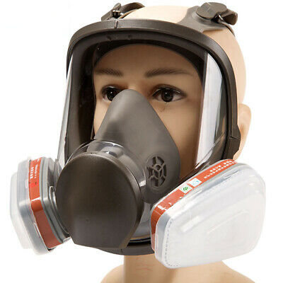 Us-6800 Full Face Gas Mask 15 In 1 Facepiece Respirator For Painting Spraying