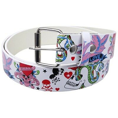 Love Kills Slowly Leather Belt