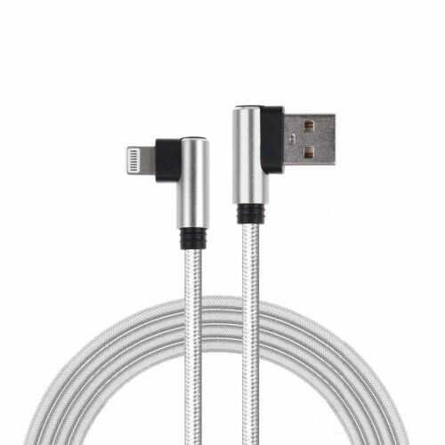 L Style 90 Degree Nylon Charger USB Fast Charging Cable