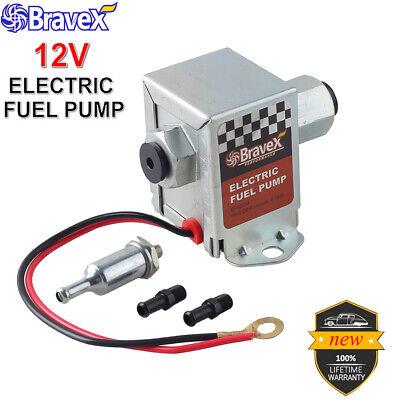 Universal Electric Fuel Pump 12V Cars 4-7 PSI Automotive Boat Gas & Diesel