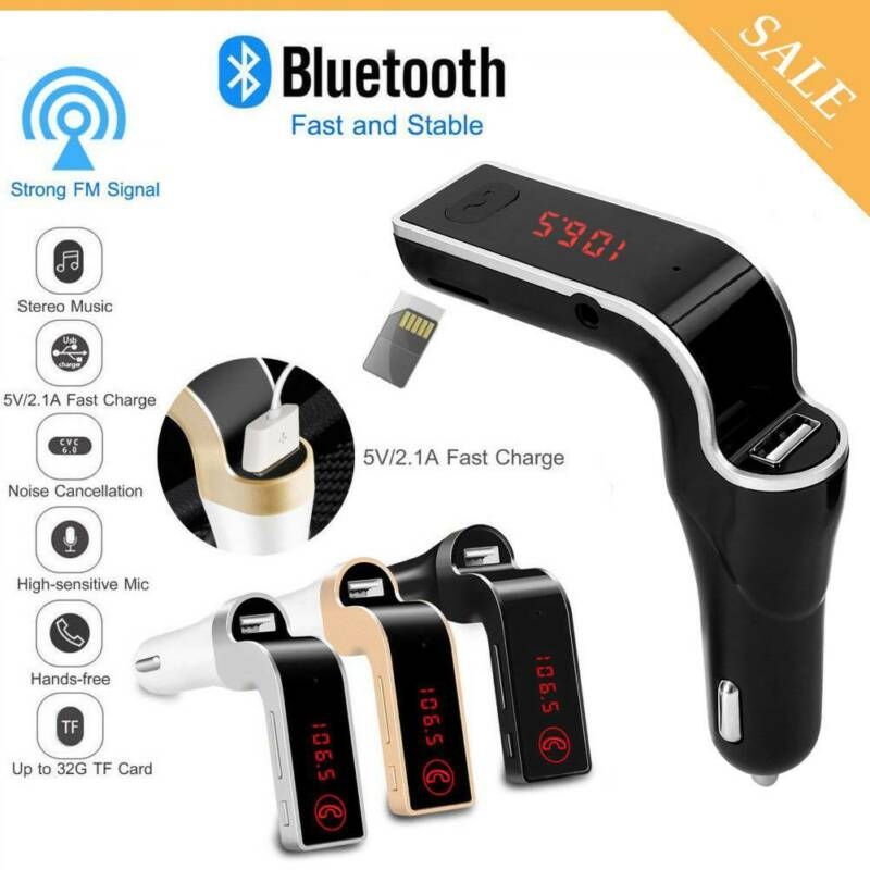 Handsfree Bluetooth For Car Kit USB Charger FM Transmitter R