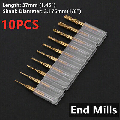 10x 18 0.8-3.17mm Pcb Engraving Cutter Rotary Cnc End Mill Drill Bit Kit Set