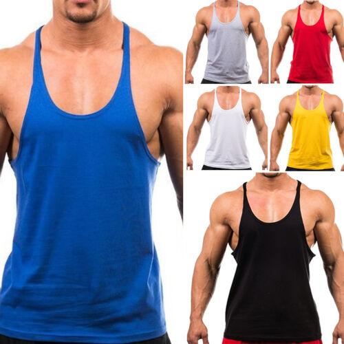 Bodybuilding Allenamento In Palestra Canotta Uomo Muscolo Fitness Camicia USA