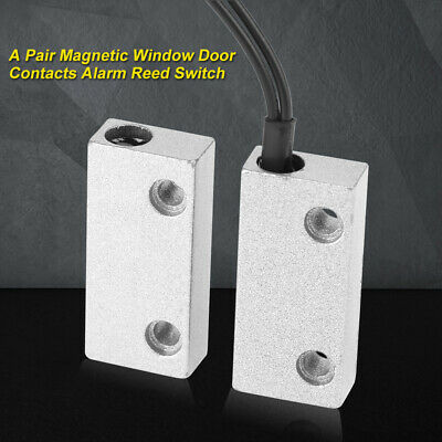 Magnetic Window Door Contacts Alarm Reed Switch Metal Housing Waterproof