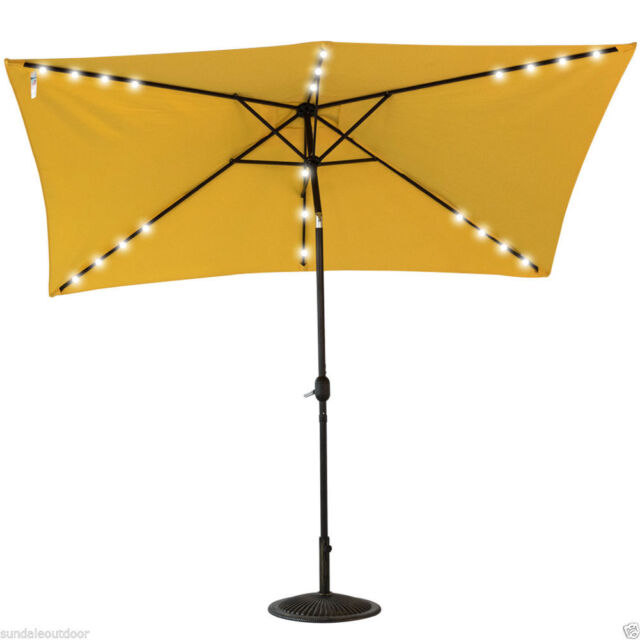 Rectangular Patio Umbrella With Solar Lights Beauteous 600 By 6060feet Rectangular Patio Umbrella Solar Power 60 LED Light