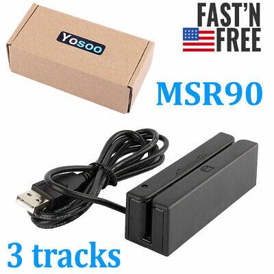 Credit Card Reader Machine Portable Mini Usb Magnetic Stripe Swiper Msr Msr90 Us