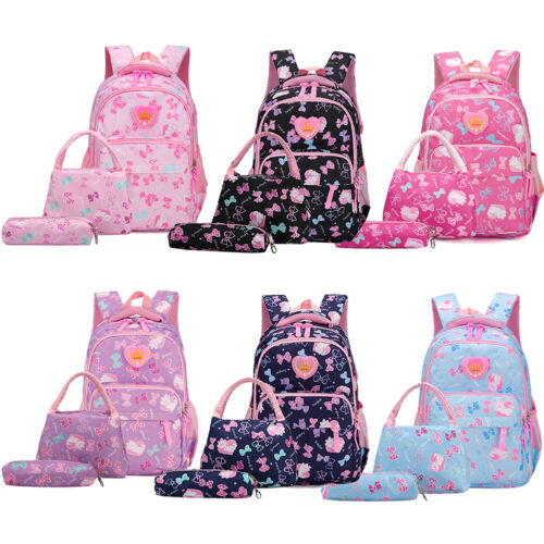 3Pcs Waterproof Girl School Bags For Teenagers Backpack Shou