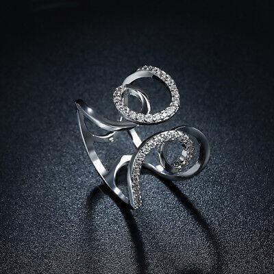 Charles & Colvard Round Brilliant Cut Ring Made with Swarovski Crystals