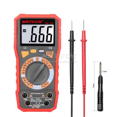 Nktech True-rms Digital Multimeter Ac Dc Voltmeter Resistance Capacitance Tester