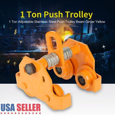 1 Ton Steel I-beam Push Beam Track Roller Trolley Beam Girder Precision Tool NEW