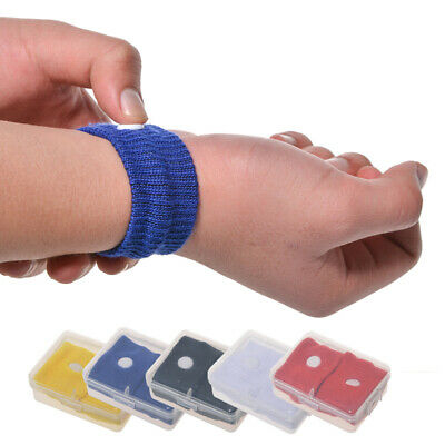 1 Pair Motion Sickness Relief Wrist Band Nausea Acupressure Treatment Clever