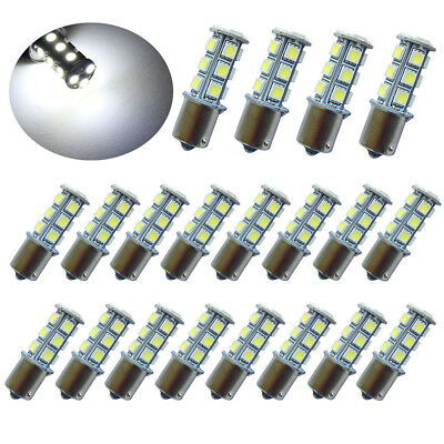 20Pc DC12V 1156 1003 1141 18 SMD Interior RV Camper White LED Tail Backup Bulb 1156 Led 12v Bulb