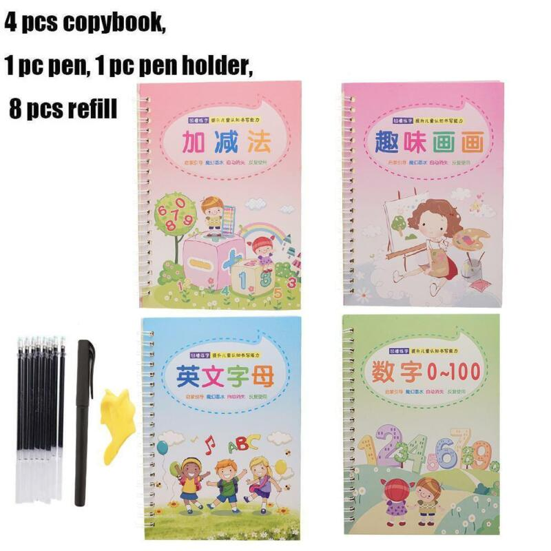 Magic Calligraphy That Can Be Reused Handwriting Copybooks Set Kid Writing 14Pc