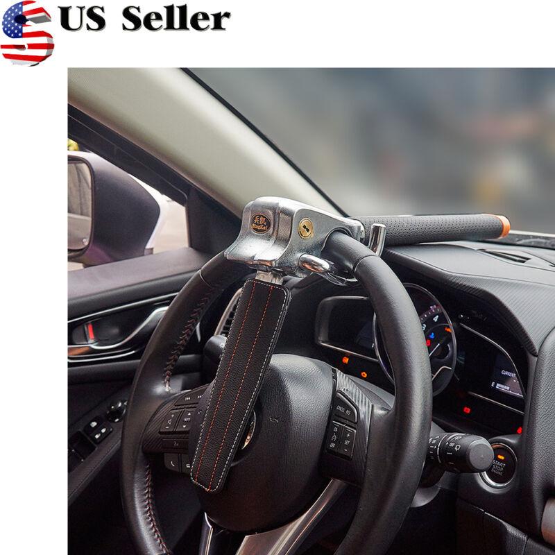 Anti-Theft Lock Auto Car Security Steering Wheel Lock Safe Devices 2keys US