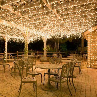 36ft 100 LED Battery Operated String Lights Timer on 11M Outdoor Clear String ()