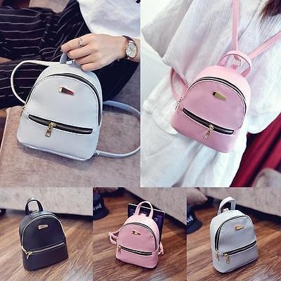 Womens Girls Leather Backpacks Mini Travel Rucksack Handbags School Bag Perfect
