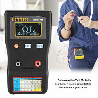 Mesr-100 Esr Capacitance Ohm Meter Capacitor Circuit Tester Resistance Measuring