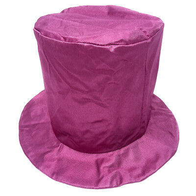Adult Shiny Pink Top Hat ~ FUN HALLOWEEN, COSTUME, NEW YEAR'S, BIRTHDAY, PARTY (Pink Top Hat)
