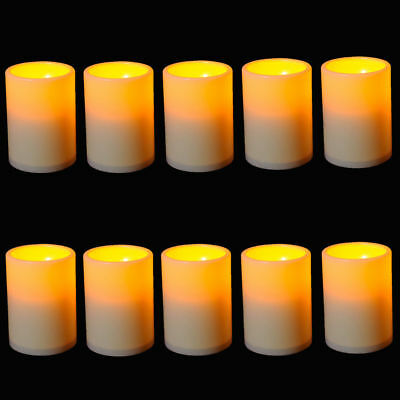 20x LED Flameless Tealights Battery Operated Tea Light Led Candles W/Timer party](Battery Operated Tea Lights Bulk)