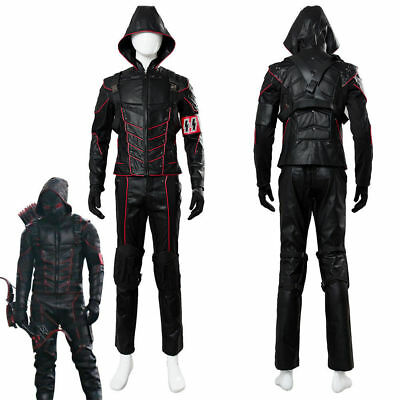 Arrow-Dark Arrow Uniform Merlyn Cosplay Costume Suit Outfit Black Theme - Arrow Suit