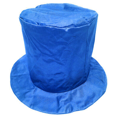 Adult Shiny Blue Top Hat ~ FUN HALLOWEEN, COSTUME, NEW YEAR'S, BIRTHDAY, PARTY](Blue Top Hat)