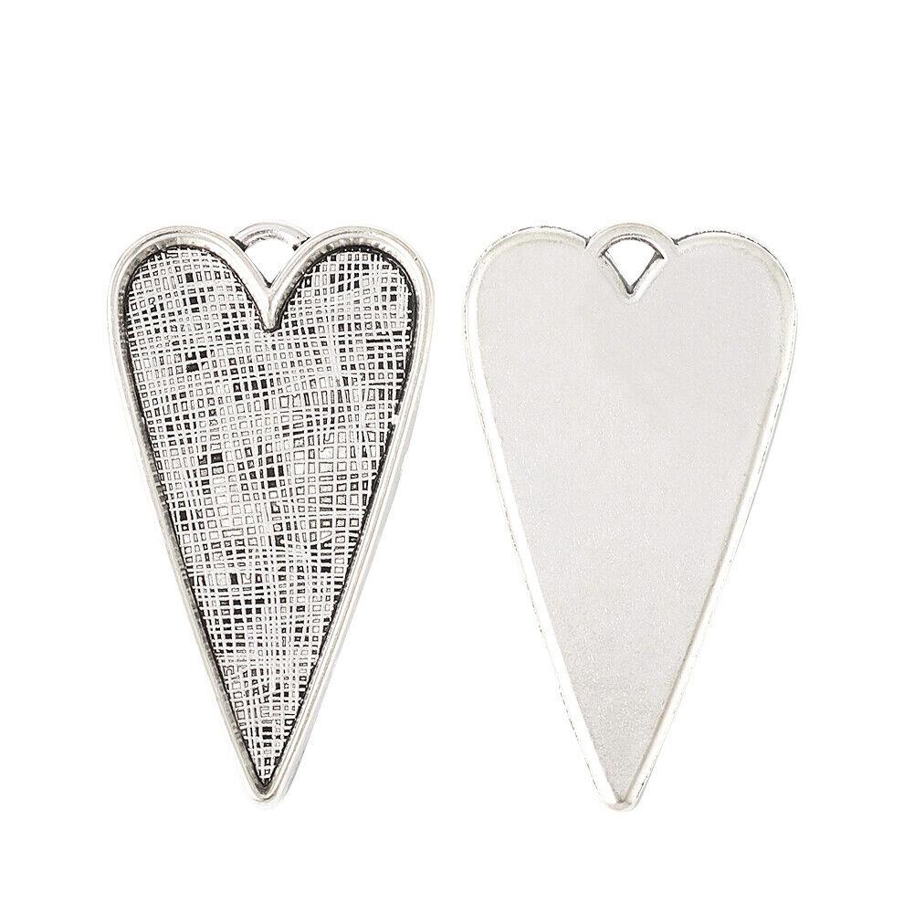 Heart Charms U.K Tibetan Silver 12x10mm Seller Pack Of 20