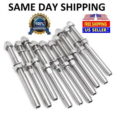 T316 Stainless Steel Swage Threaded Tensioner End Fittings 18 Cable Railing