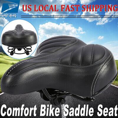 Black Diamond Vinyl Classic Vintage Type Cruiser Touring Spring Bike Saddle Seat