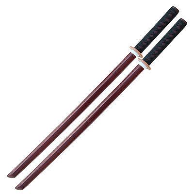 (Training Martial Arts Kendo Practice Bokken Katana Wooden Sword Set)