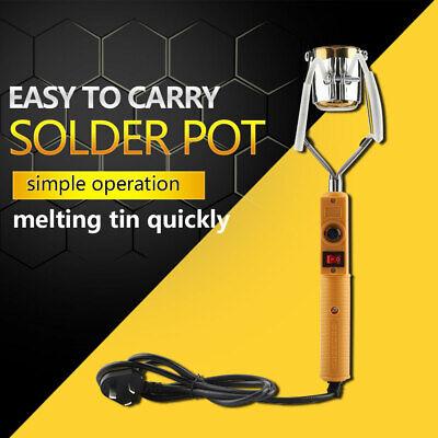180W/280W Electric Portable Lead Melting Pot Solder Furnace Casting Heads Tin SL